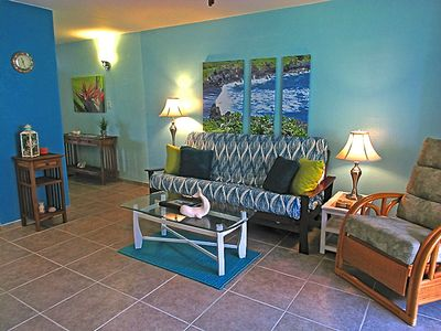 Decorated in tranquil colors of the ocean for a relaxing stay