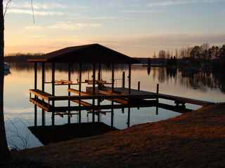 Huddleston chalet photo - A peaceful evening at the lake.