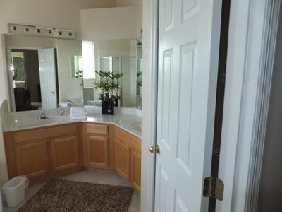 Master ensuite bathroom. View from bedroom