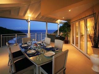 Cap Estate condo photo - Beautiful veranda with ocean views