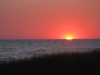 Gayhead - Aquinnah house photo - Sun setting over nearby Philbin Beach (Aquinnah residents/renters only)