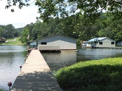 Boathouse and Pier on Lake Guntersville