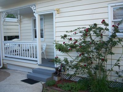 ROSE COTTAGE offers off street parking, and private patio.