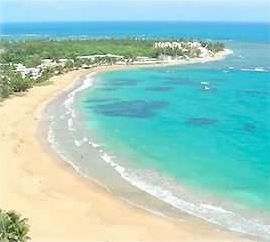 Luquillo condo rental - Spectacular View from the 30 ft. Balcony of the Beach, Ocean, & Coral Reefs