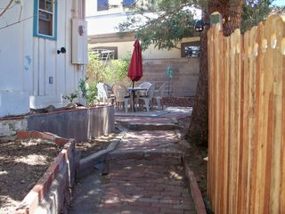 Bisbee house photo - Entrance from gate to patio courtyard and house