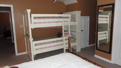 Bunks a plenty with additional Full bed and Cove bed.