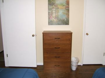 Chest of drawers for the twin bedroom.