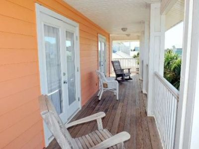 Private deck off third floor with magnificent views of community