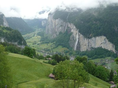 Wengen chalet rental - Lauterbrunnen valley from balcony