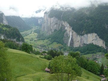 Lauterbrunnen valley from balcony