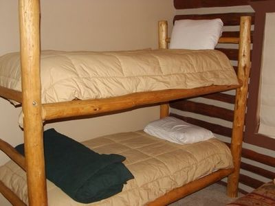 Guest Kids Room w Bunk Beds plus a double bed