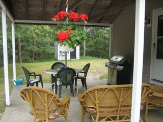 Outdoor patio with new gas grill - Wellfleet house vacation rental photo