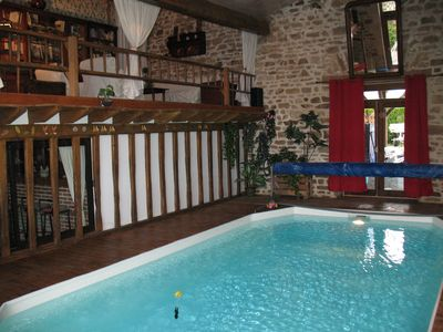 Fishing cottage with indoor pool in Creuse