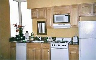Convenient kitchen with beautiful view