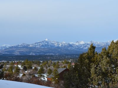 Pagosa Peak in winter.