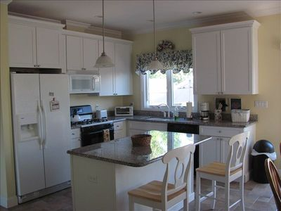 All new appliances with granite countertops.Pots, Pans, dishes and cutlery avail
