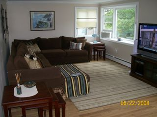 Provincetown house photo - Huge living room with 50' plasma HDTV w/ cable!