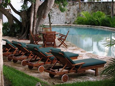 Relax on a super comfy Lounger - catch some sun or chill in the shade