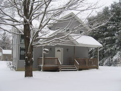 Bantam Lake house rental - A Winter Wonderland