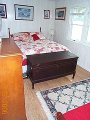 Grand Lake Stream cabin photo - Lakeside Queen Bedroom