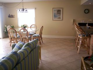 Madeira Beach condo photo - Dining and Living area