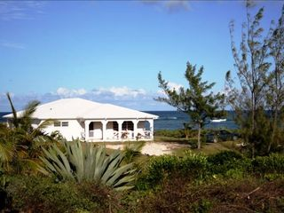 "Governor's Harbour house photo - Beachfront Villa ""Atlantic Sunrise"", West Facade"