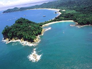 Manuel Antonio villa photo - Areal Photo of Manuel Antonio Park Beach 3 minutes from The Villa!