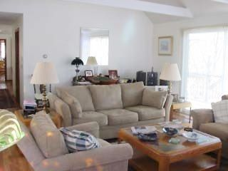 Eastham house photo - The sunny family room with a 4'X8' slider to the deck seats 8
