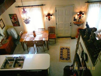 Blowing Rock house rental - New table and chairs plus barstools can comfortably seat 6-8 people