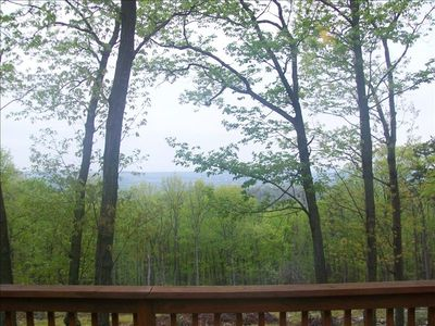 View from deck in spring
