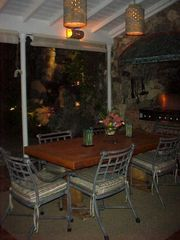 Tortola villa photo - Dining and Built in Gas Grill