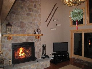 Newry house photo - Soaring Wood Burning Fireplace