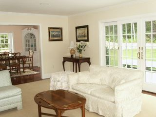Osterville house photo - Living room and dining room