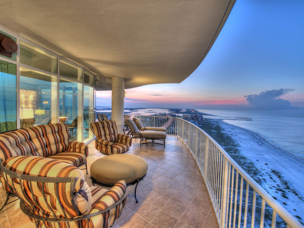 luxurious one of a kind corner unit with spectacular views of gulf and