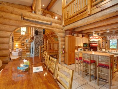 Cooperstown lodge rental - Virtually all ceilings are tall cathedral with open-beam architecture.