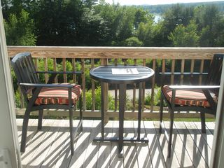 Laconia townhome photo - Relax on the privet deck.