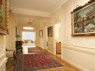 Hallway - original paintings on display