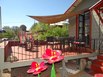 Bisbee house rental - Happy hour on the deck with amazing views