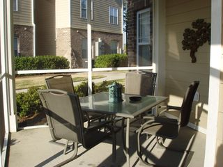 Calabash condo photo - comfy seating for outdoor dining