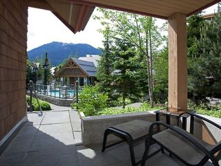 Whistler townhome photo - Private Patio Off Second Bedroom Overlooking Pool