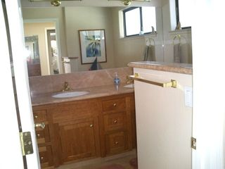 Master Bath w/ His and Her Sinks - Santa Cruz house vacation rental photo