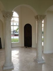 Port St. Lucie house photo - View from dinning room to Front door. Travertine marble floors