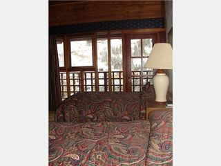 Taos Ski Valley condo photo - Twin room with sleeping loft and balcony view