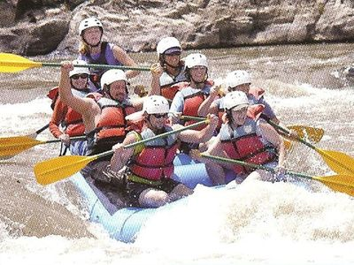 White water rafting nearby