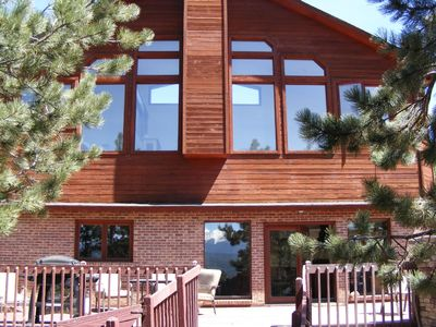Woodland Park house rental - Lots of windows, bright and sunny, lots of deck