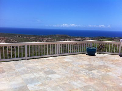 Maunaloa estate rental - View from huge rear deck overlooking entire West Molokai