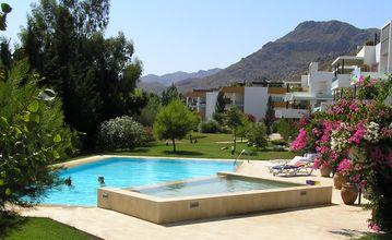 Bellresguard apartment rental - Eneas Gardens and Pool (Atlas behind)