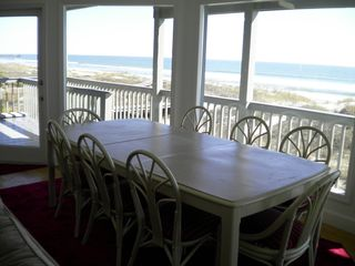 Isle of Palms house photo - Table for 8 surrounded by windows so you can view the ocean while eating