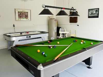 Pool Table with Jet Blaster Air Hockey
