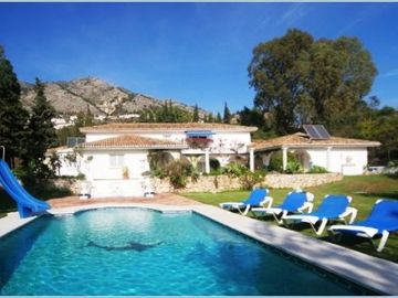 Mijas villa rental - Diving Board View of Pool/Villa